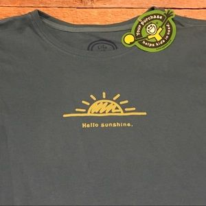 NWT life is good hello sunshine t shirt